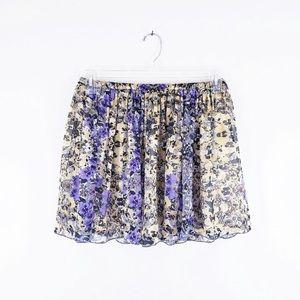 Madewell Floral Silk Mini Skirt